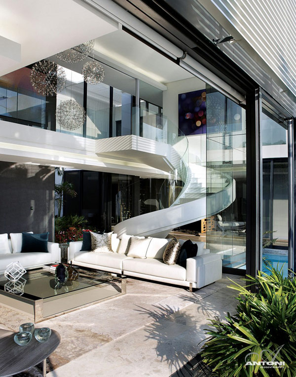 Opulent modern home in Houghton – outside couch area