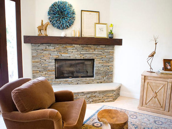 in gallery pleasing contemporary fireplace in stone - Stone Fireplace Design Ideas