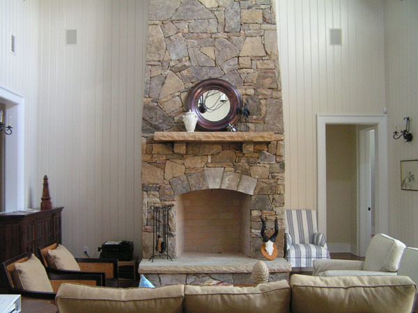 Refined fireplace sports a pleasant form