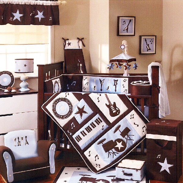 Rock and roll baby bedding set for the Elvis of tomorrow!