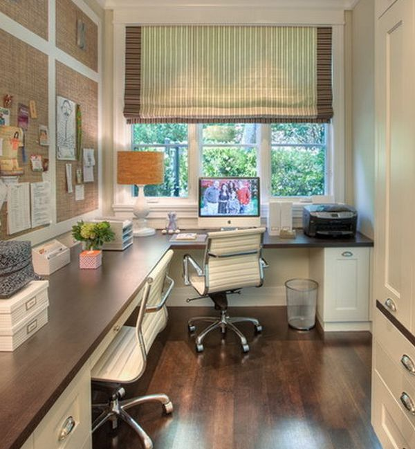 Simple home office next to a window with a view decoist for Simple office design