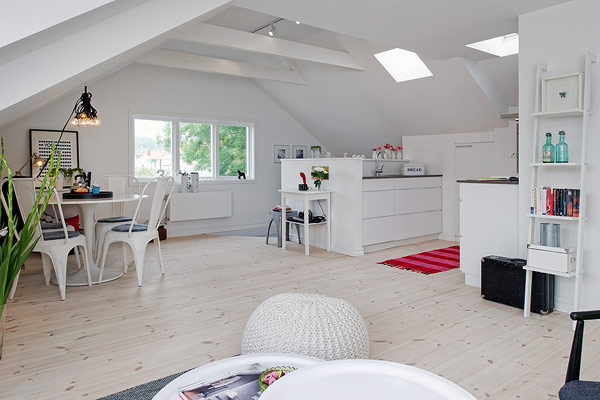 Small Attic apartment – Scandinavian design