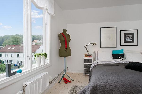 Small Attic apartment – bedroom decor
