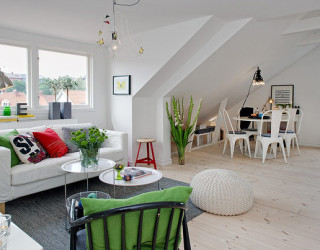Scandinavian Spacious Attic Apartment Sizzles with Pristine Charm
