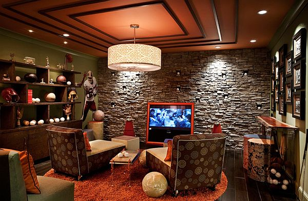 Sports themed man cave decor How to Create the Perfect Man Cave