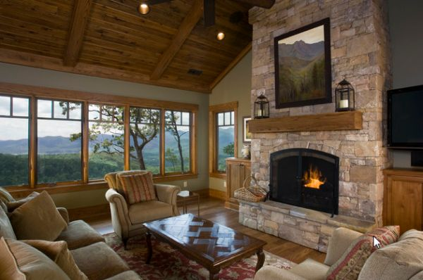 40 stone fireplace designs from classic to contemporary spaces Fireplace setting ideas