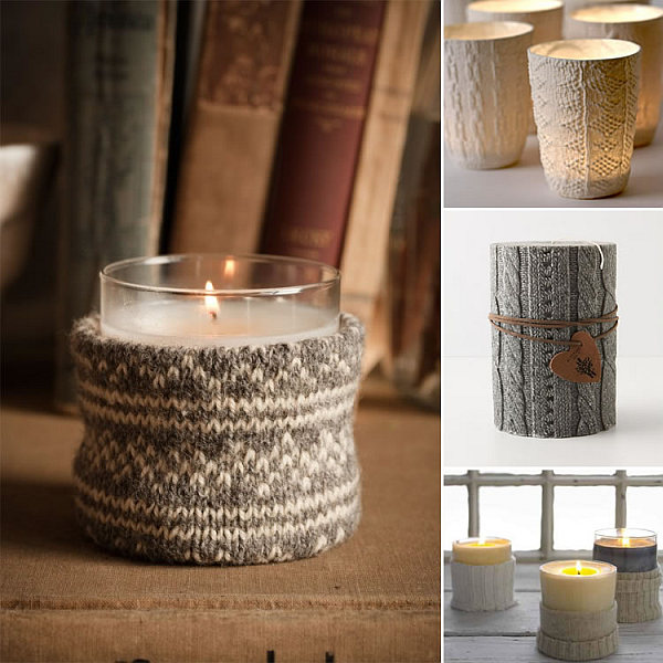 Sweater Candle Holders