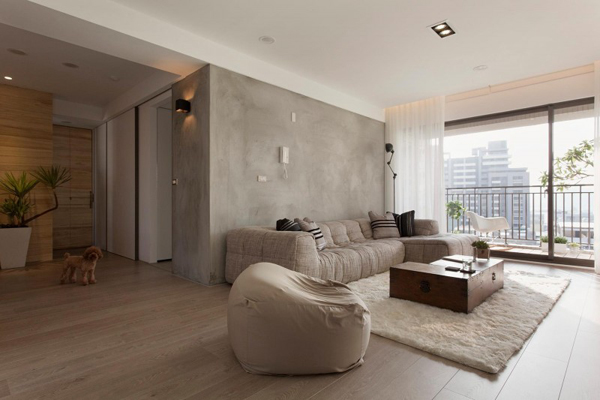 Taiwanese Contemporary Apartment – large flat