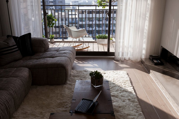 Taiwanese Contemporary Apartment modern living room Modern Apartment in Taiwan Exudes Inspiring Form and Freshness