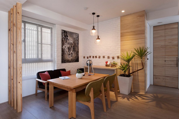 Taiwanese Contemporary Apartment – small dining room