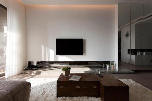Taiwanese Contemporary Apartment – white interior design