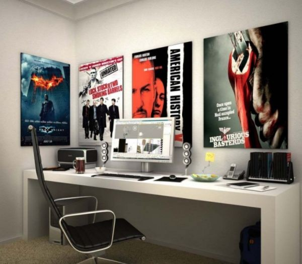 Teen workspace laced with inspiration from Hollywood