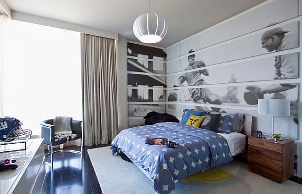 Inspiring teenage boys bedrooms for your cool kid - Deco basketball chambre ...