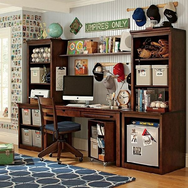 Simple Study Room: 35 Contemporary Teen Workspace Ideas To Fit In Perfectly