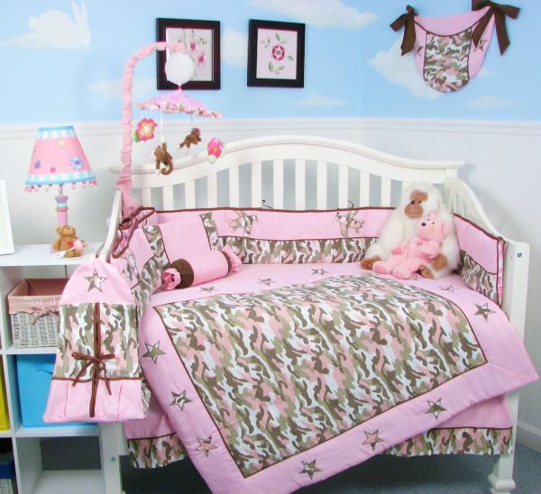 Camo Green Baby Crib Bedding Set Bed Mattress Sale