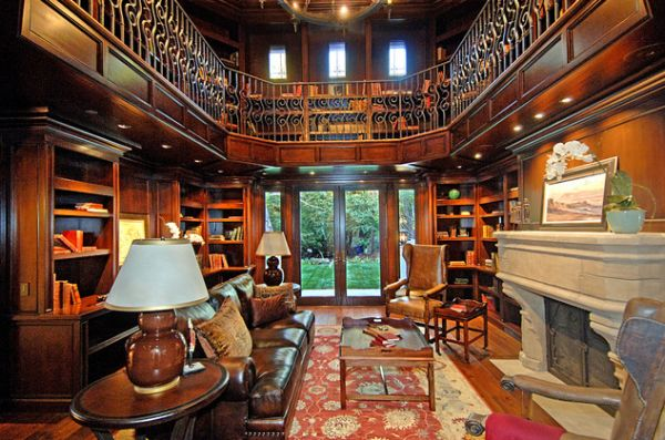 beautiful home office library two story home office library