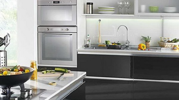 Ultra-modern kitchen idea in nuetral shades found in Conforama 2012 Kitchen Collection