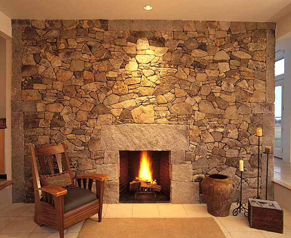 40 stone fireplace designs from classic to contemporary spaces - Fire place walls ...