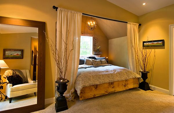 10 rustic and modern wooden bed frames for a stylish bedroom for Unique master bedroom designs