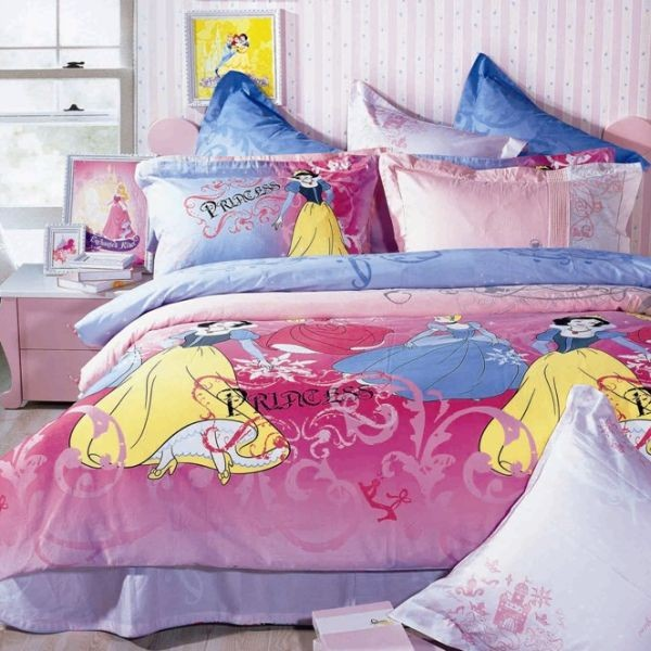 Vivacious princess bed set with loads of color