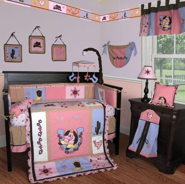 Western cowgirl baby bedding adds plenty of fun to the Baby room themes for girl