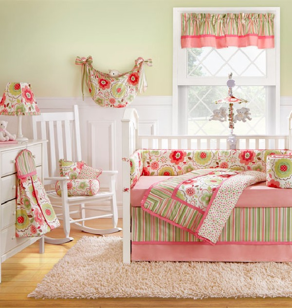 25 baby girl bedding ideas that are cute and stylish Baby room themes for girl