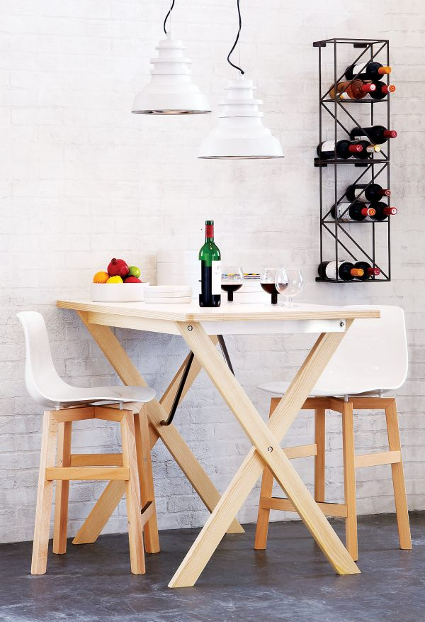 Wooden and Hirek polymer barstools