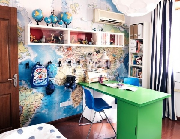 Work station designed for teens who dream of exploring the world