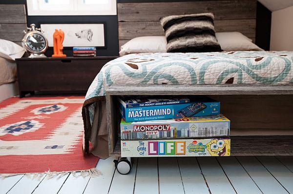 attic bedroom retreat for teenage boys