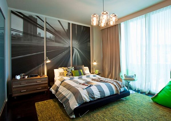 beautiful modern teenage boy room design