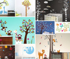 Beautiful nursery room wall decals