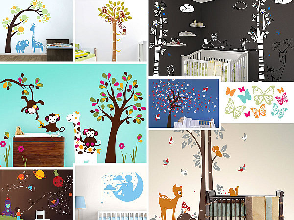 beautiful nursery room wall decals Nursery Wall Decals with Modern Flair