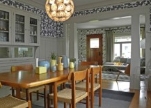 bold wallpaper multiple rooms