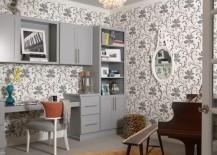 bold wallpaper neutral tones