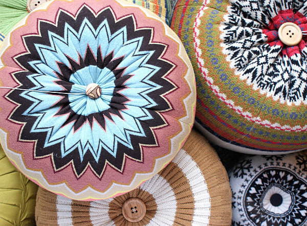 cable floor cushion pouf hassock
