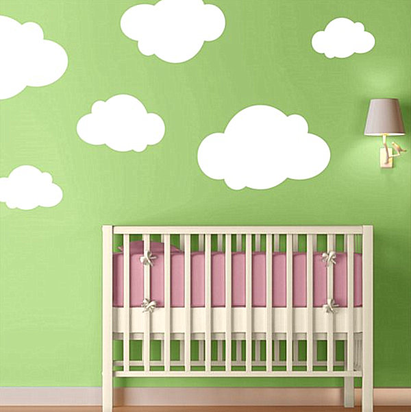 Wall Decals Nursery Grasscloth Wallpaper - Wall decals in nursery