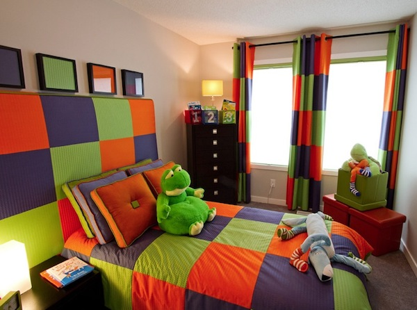 colorful kids room color blocking