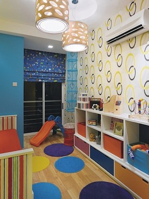 colorful kids room shapes