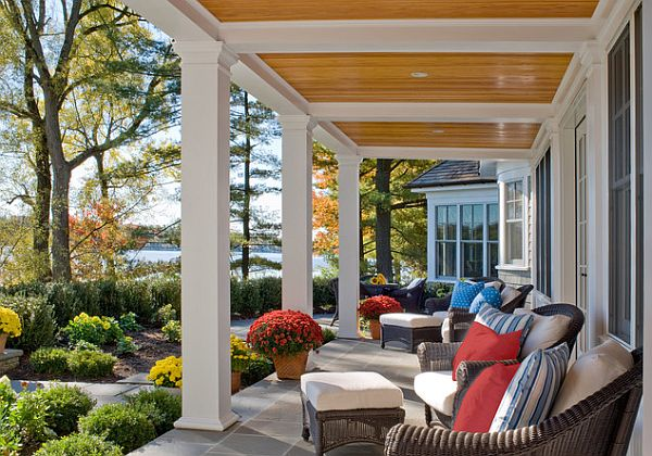 Three easy porch pick me ups Beautiful fall front porches
