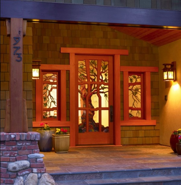 craftsman style front entry e1350032266438 How To Bring Artisan Craftsman Details Into Your Home