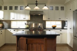 craftsman style kitchen cabinetry