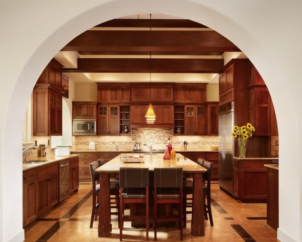 craftsman style kitchen flooring