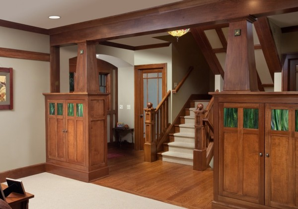 View In Gallery Craftsman Style Wood Detailing Interior ...
