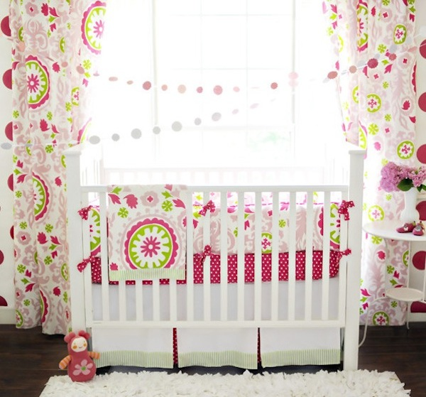 creative pink patterns baby bedding