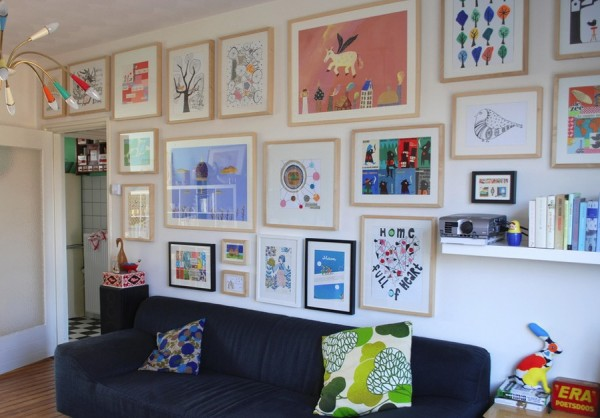 displaying kids artwork framed
