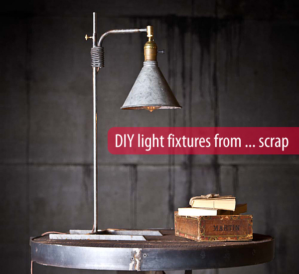 Quirky Bathroom Lighting diy lighting: upcycling household products to quirky light fixtures