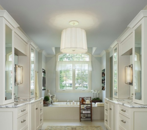 drum lighting bathroom e1349615057342 Creating Bathroom Lighting that Commands Attention