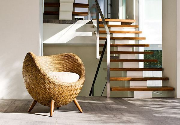 eco friendly rattan chair by Kenneth Cobonpue Fancy Rattan Chair: La Luna Collection for Modern Interiors by Kenneth Cobonpue
