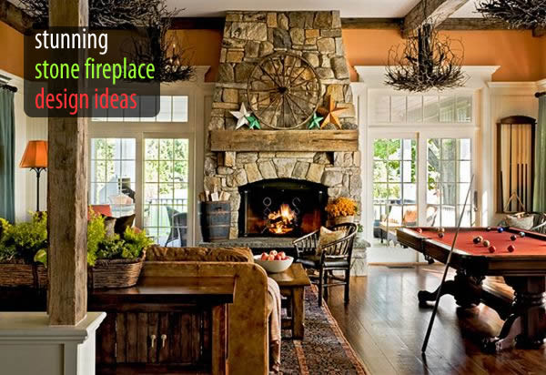 40 stone fireplace designs from classic to contemporary spaces - Stone Fireplace Designs