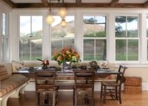large kitchen banquet seating